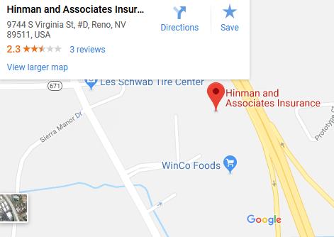 Reno & Sparks, NV Clic Car Insurance Agents | Hinman & ociates ... Google Maps Reno on satellite map reno, google map dallas pa, area code map reno, google nv, weather reno, craigslist reno, google state of nevada, google map portland oregon,